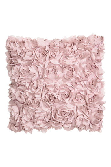 Cushion cover with flowers - Light pink - Home All | H&M CN 1